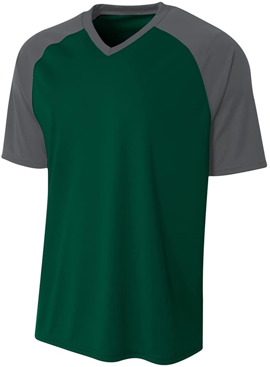 A4 Sportswear Forrest/Graphite Adult Small Strike Jersey (Custom Front/Back)