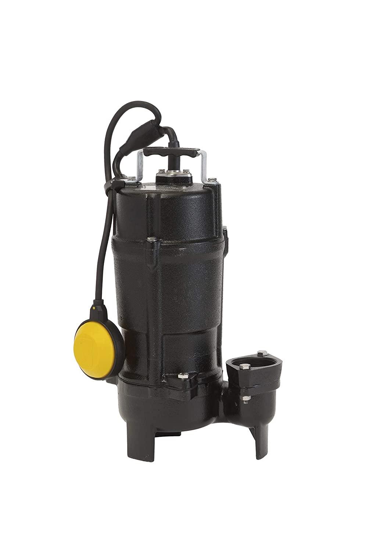 Tsurumi 50UTZ2.75S; Float Operated, semi-Vortex Submersible Sewage Pump, 1 hp, 115V, 2