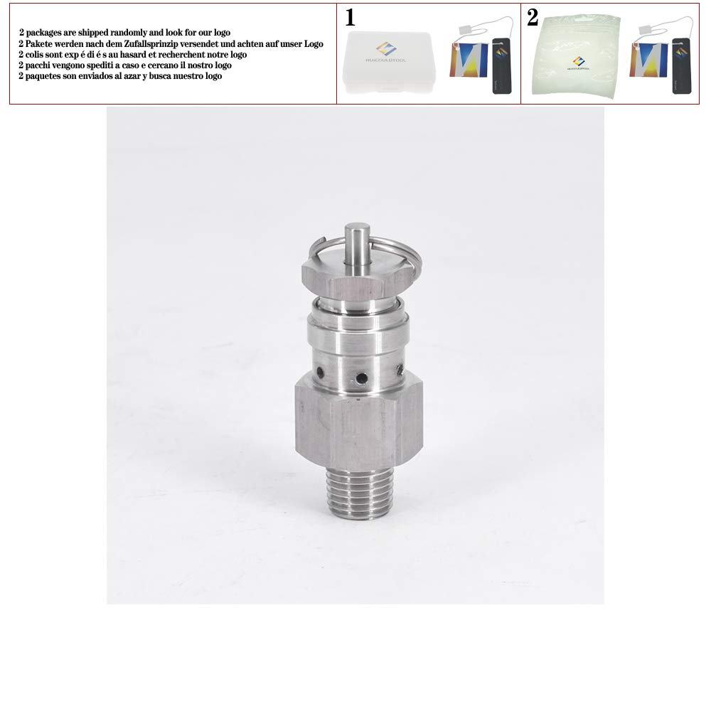 0.1/0.2/0.3 Mpa 1/4 NPT SUS304 Sanitary Adjustable Air Release Pressure Relief Safety Valve Exhaust Homebrew Compressor,0.3 Mpa