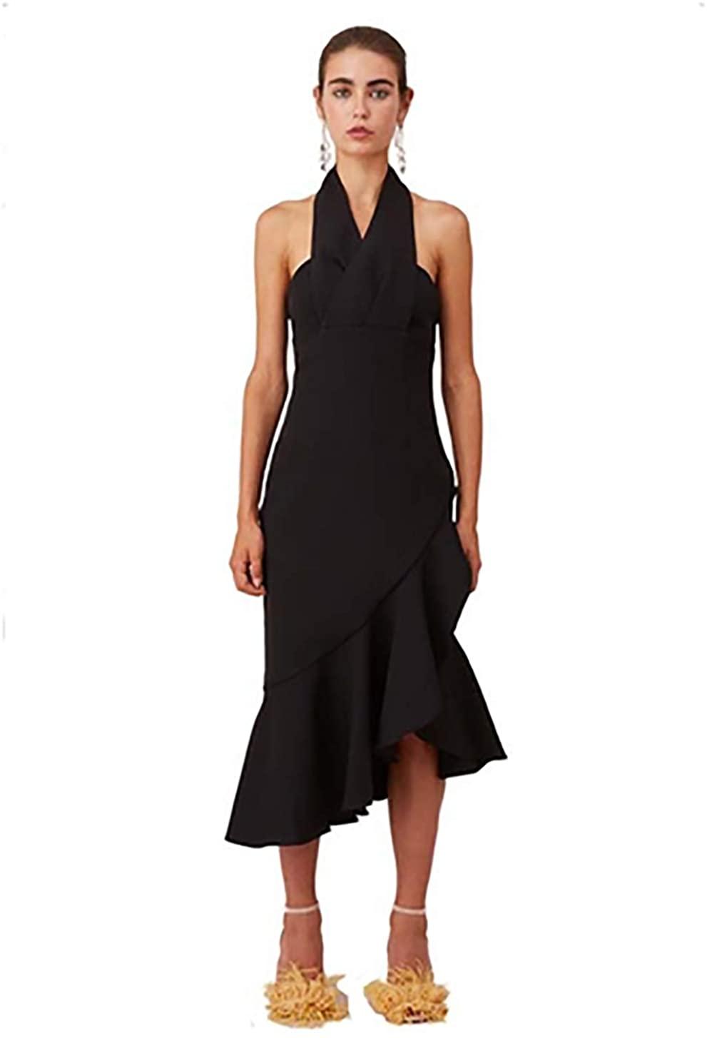 Keepsake Delight Midi Dress in Black