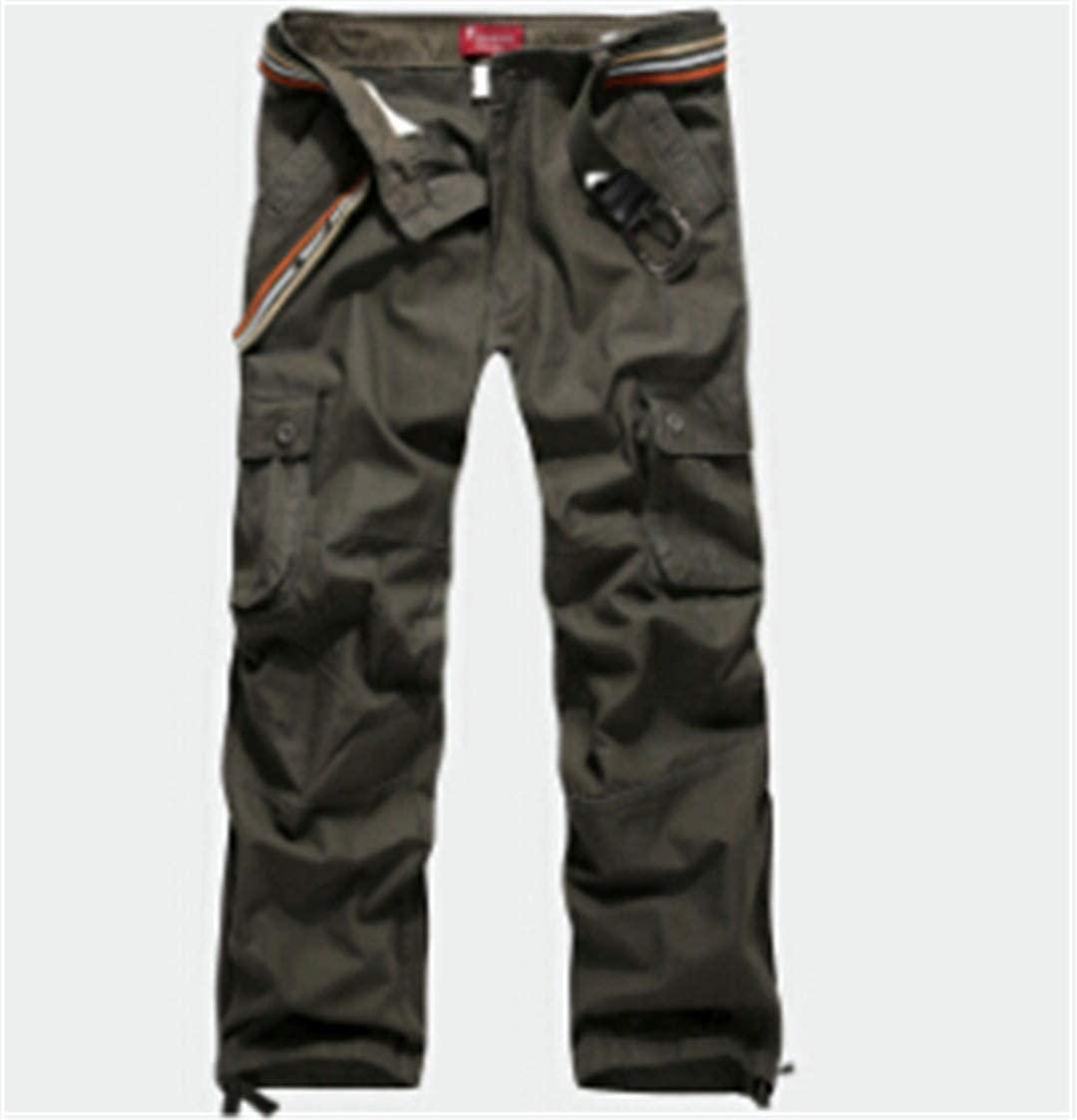 PUNKDBOTTO Plus Size Men's Cargo Pants Casual Multi Pocket Cargos Trousers Long Pant
