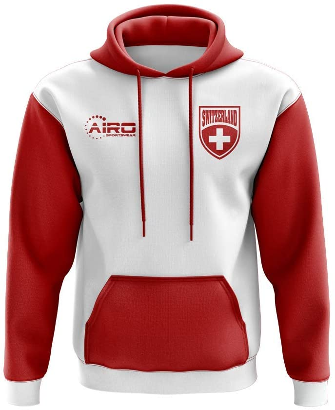 Airosportswear Switzerland Concept Country Football Hoody (White)