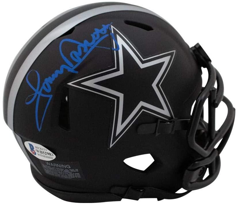 Tony Dorsett Autographed Dallas Cowboys Eclipse Mini Football Helmet - BAS COA