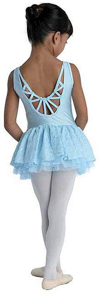 DanzNmotion Girls Leotard Dress Cami with ZigZag Macrame Back Style 19205C