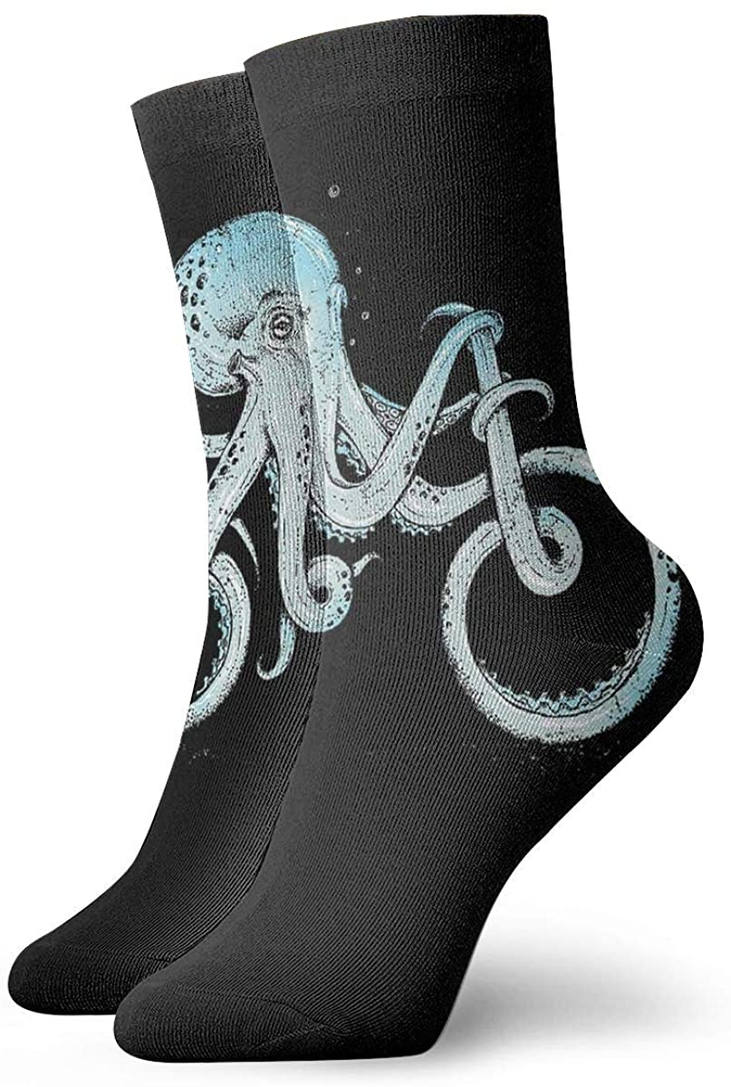 Octopus Bike Funny Short Crew Socks Athletic Tube Socks For Men Women