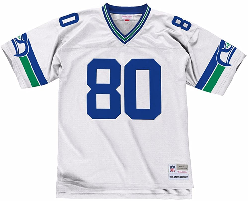 Mitchell & Ness Steve Largent Seattle Seahawks White Throwback Jersey