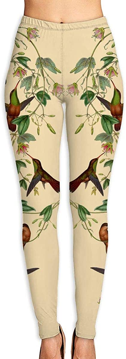 Hummingbird Bird Women's Leggings Pants for Sports Yoga Workout Gym Running