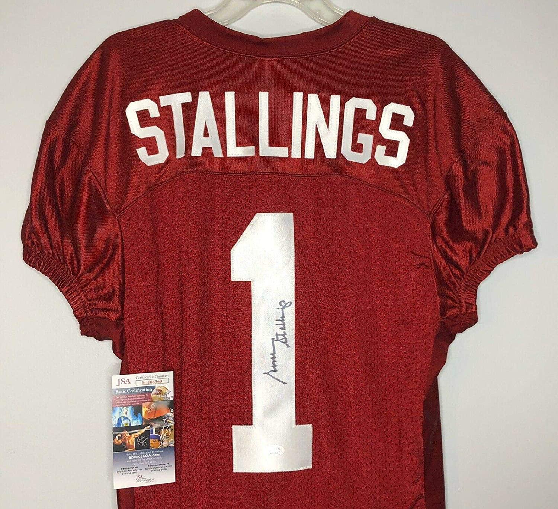 Gene Stallings Autographed Jersey - Football #1 w COA - JSA Certified - Autographed College Jerseys