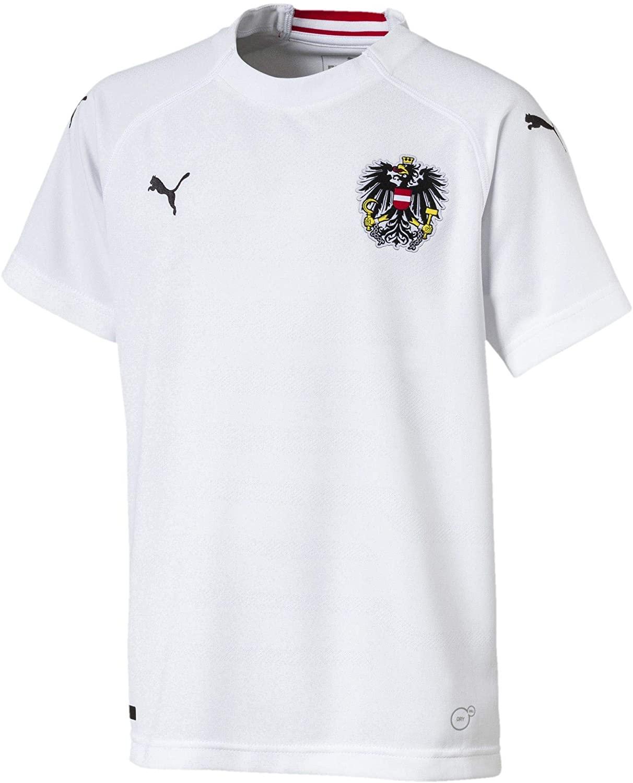 PUMA 2018-2019 Austria Away Football Soccer T-Shirt Jersey (Kids)