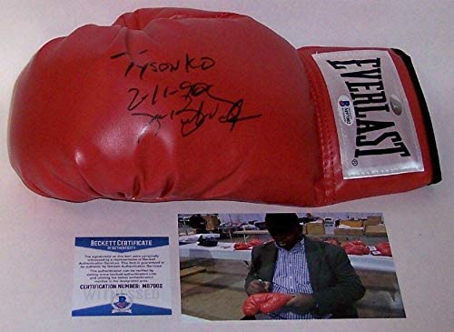 Buster Douglas Autographed Hand Signed Everlast Left Hand Boxing Glove - Beckett - BAS - Beckett Authentication