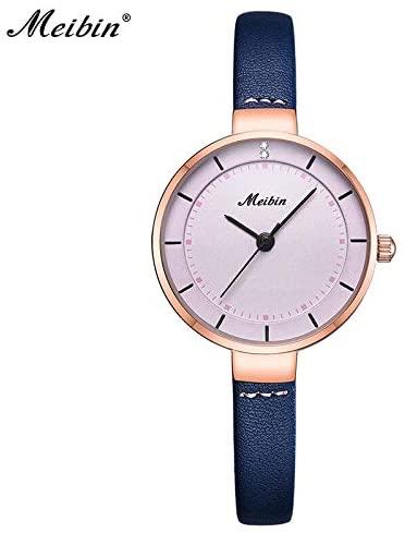 Strong Durable Luxury Brand Narrow Genuine Leather Watches for Women Fashion Ladies Accessories Quartz Wristwatch Online
