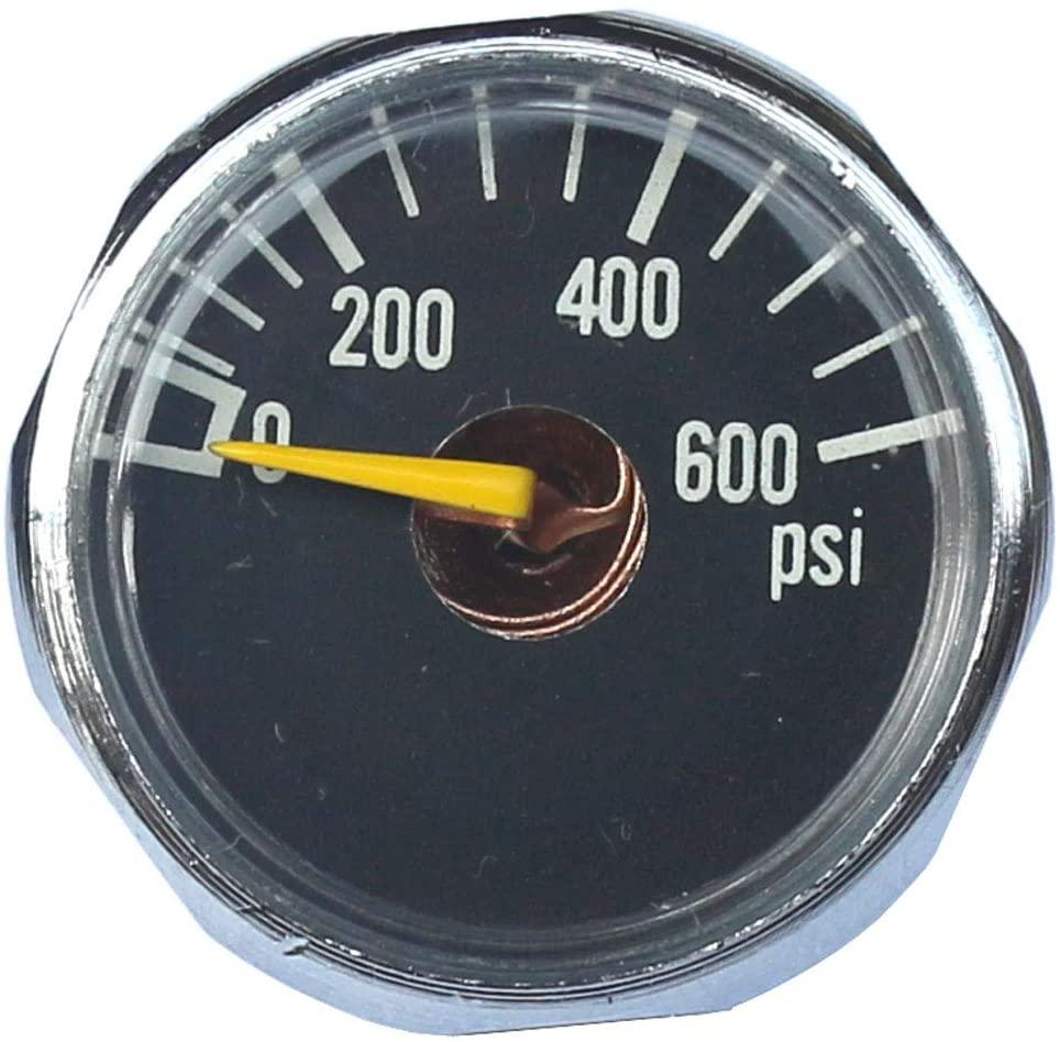 New 2X 600 PSI Paintball Micro Gauge