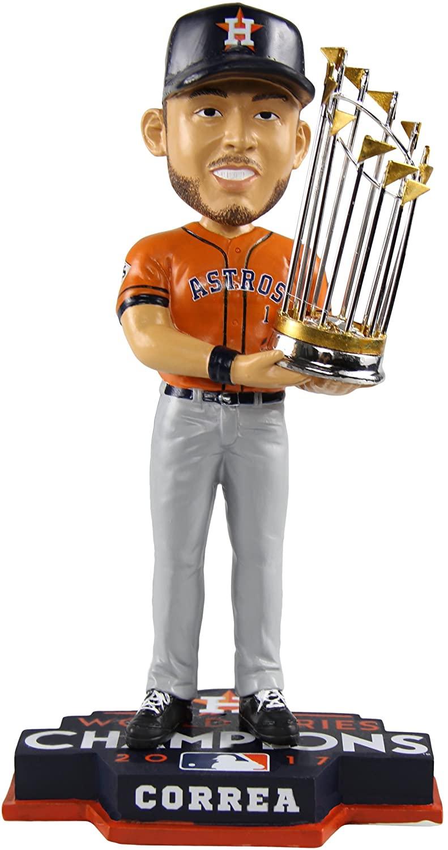 Correa Houston Astros 2017 WS Champions Rare Orange Jersey Bobblehead MLB