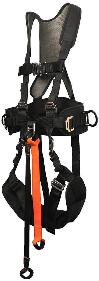 Fusion Climb Tornado Adjustable Full Body Zipline Canopy Tour Harness 23kN M-L Black