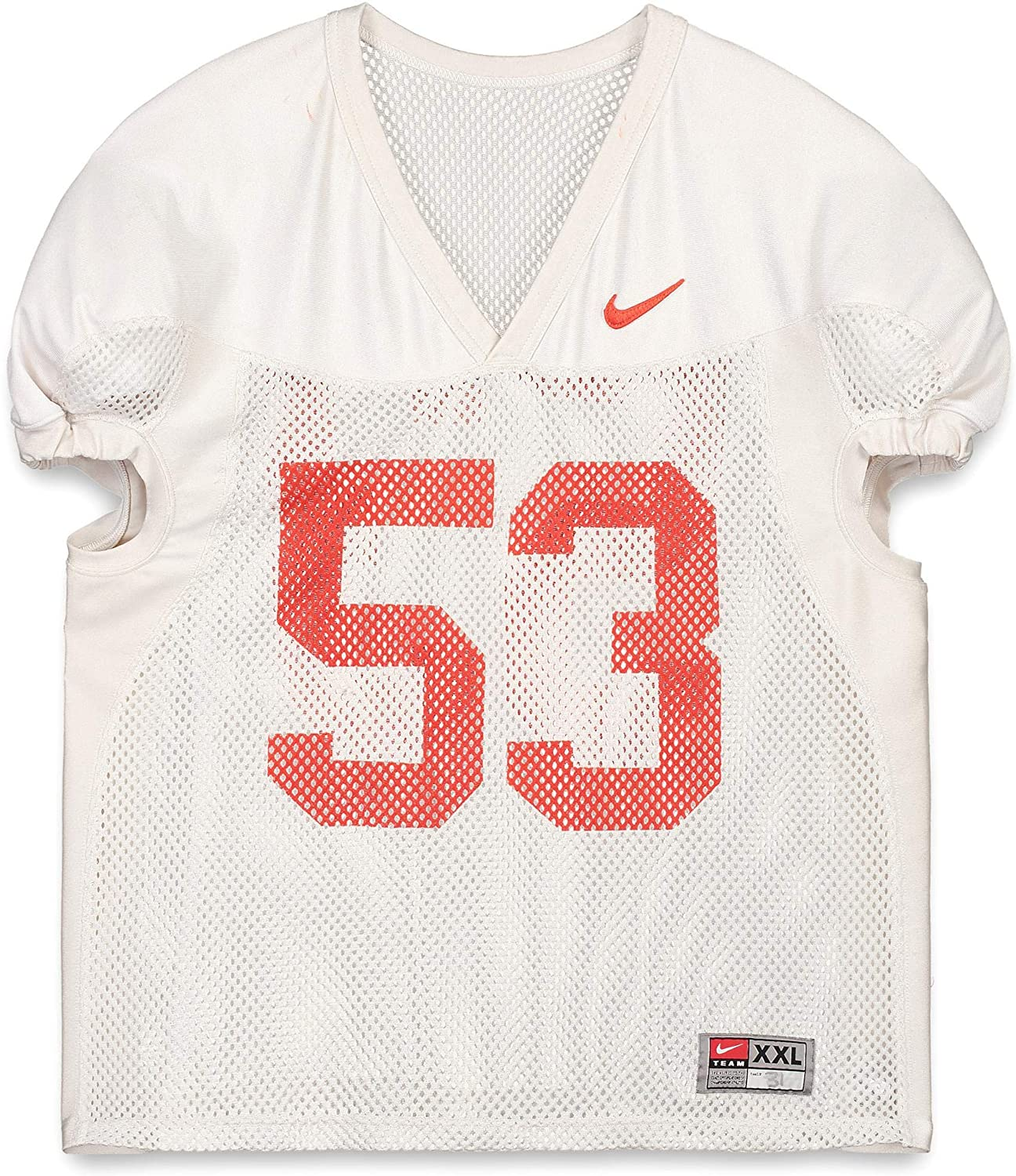 Clemson Tigers Practice-Used #53 White Jersey from the 2015-17 Football Seasons - Fanatics Authentic Certified