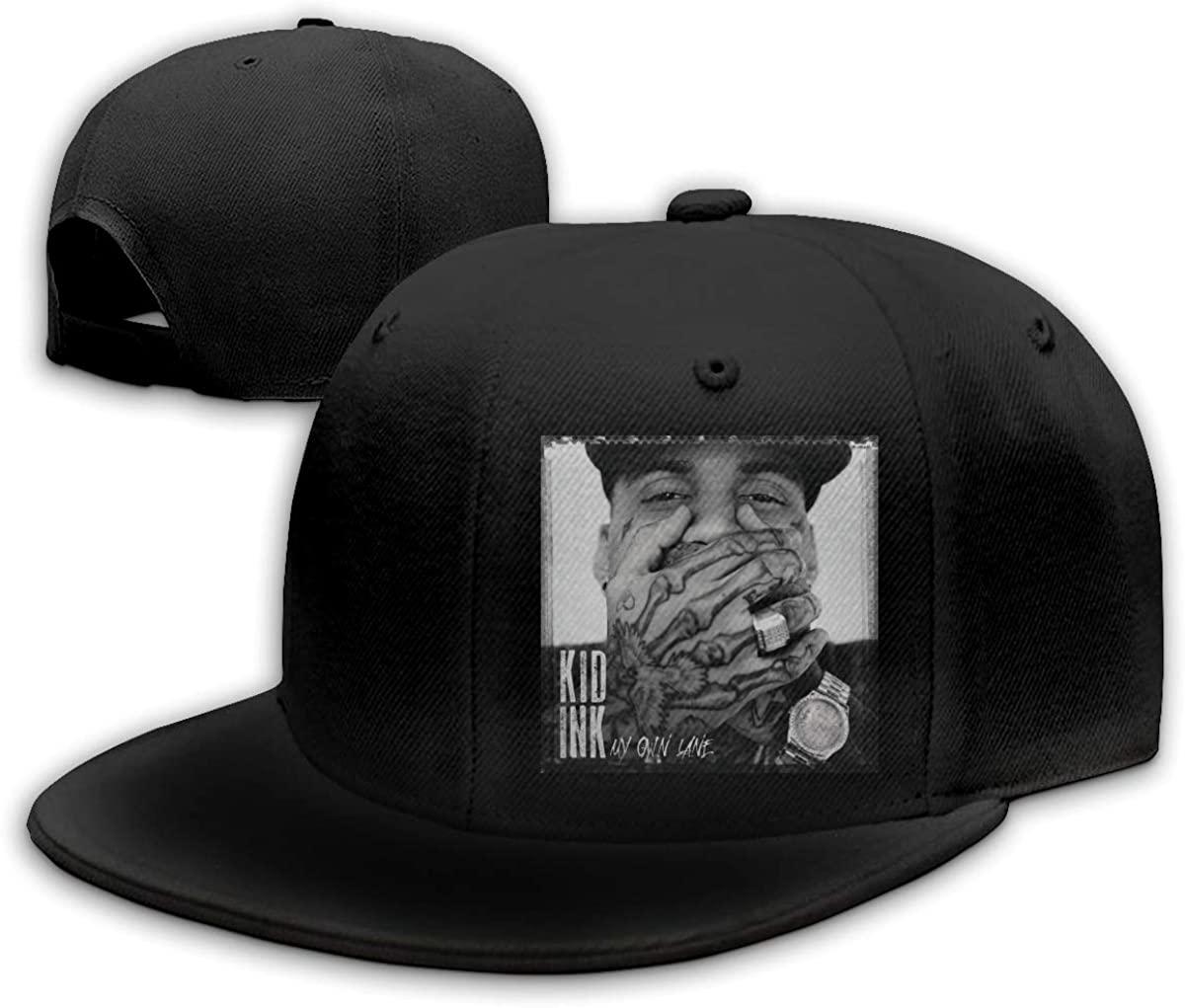 Adjustable Womens Mens Kid Ink My Own Lane Baseball Hat Adult Flat Bill Brim Sun Cap Snapback Hat for Men Women
