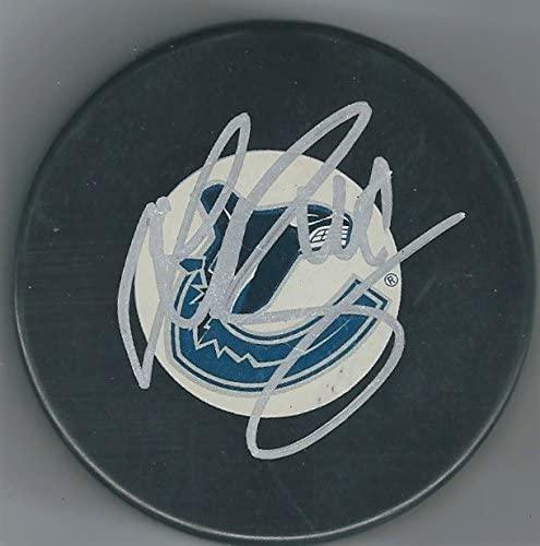 Autographed Sven Baertschi Vancouver Canucks Hockey Puck