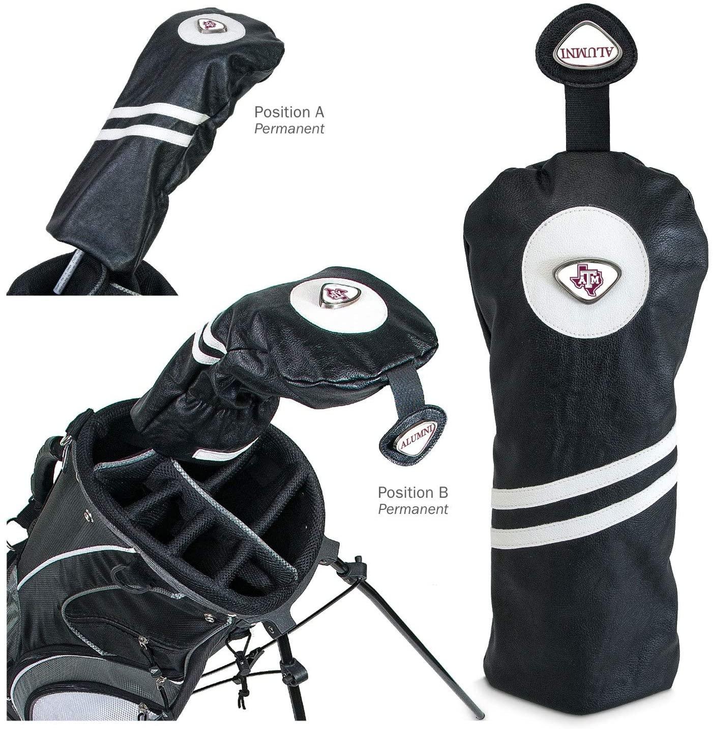 NCAA Texas A&M Aggies Collegiate Driver HeadcoverCollegiate Driver Headcover, Black, One Size