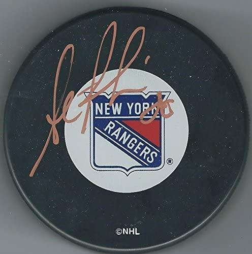 Steve Rucchin Autographed Puck - Autographed NHL Pucks