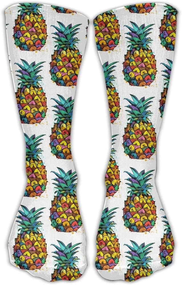 Pineapple in Summer Athletic Socks Novelty Running Long Sock Cotton Socks