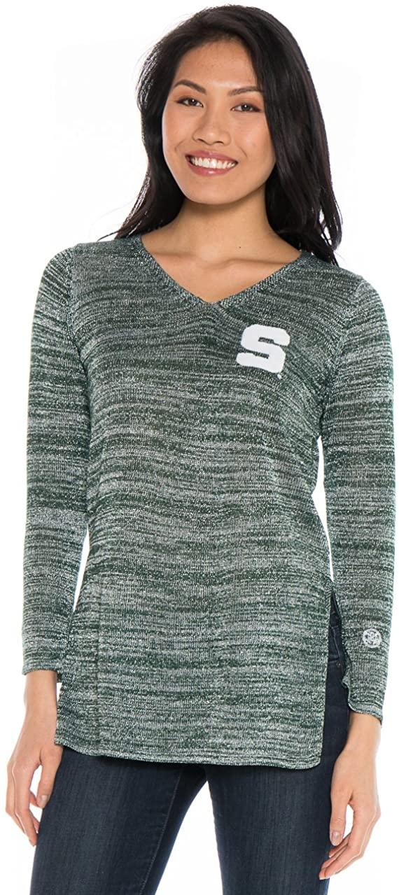 Alma Mater NCAA Michigan State Spartans Women's Glitter Knit, X-Large, Hunter Green