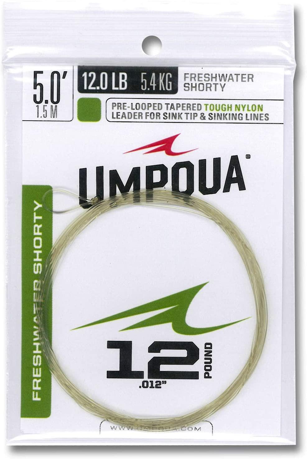 Umpqua Freshwater Shorty 5'-12Lb Leader