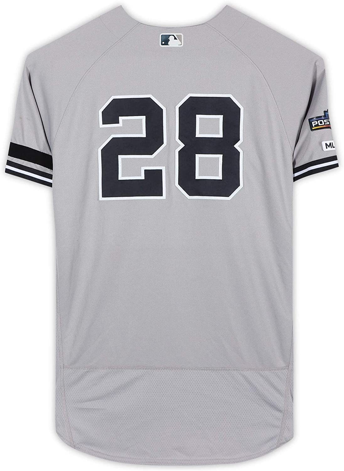 Austin Romine New York Yankees Game-Used #28 Gray Jersey vs. Texas Rangers on September 28, 2019 - Size 46 - Fanatics Authentic Certified