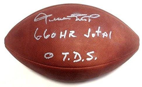 Willie Mays Signed Inscribed 660 H.R Total 0 T.D.S Duke Football w/Case LOA - JSA Certified - MLB Autographed Miscellaneous Items