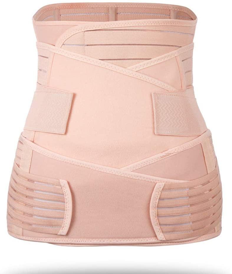Women's Postpartum Belly Wrap Post Partum Girdle Shapewear,Postpartum C Section Post Pregnancy Corset Breathable Adjustable
