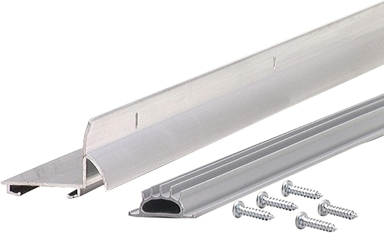 M-D Building Products 6015 M-D L-Shape Door Sweep, 1-3/8 in W X 36 in L, quot quot, Aluminum