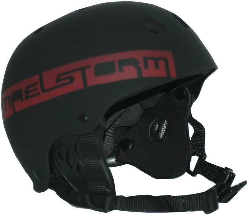 Maelstorm Aqua Wave Kitesurfing Helmet Matte Black Size M for Watesports Kiteboarding Windsurfing Waterskiing Jet Skiing SUP Kayaking Canoeing Paddling Boating