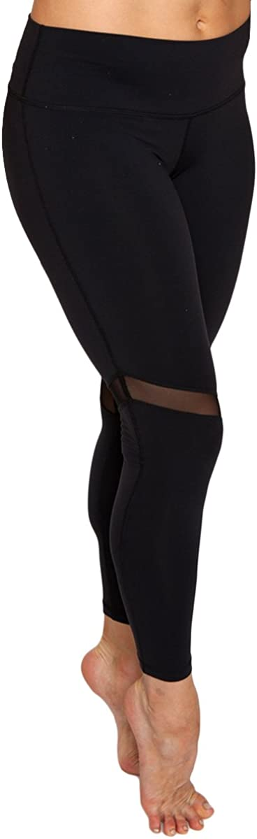 Women's Ankle Length Ultra Soft Stretchy Mesh Workout Leggings for Yoga, Running, Pilates, Gym