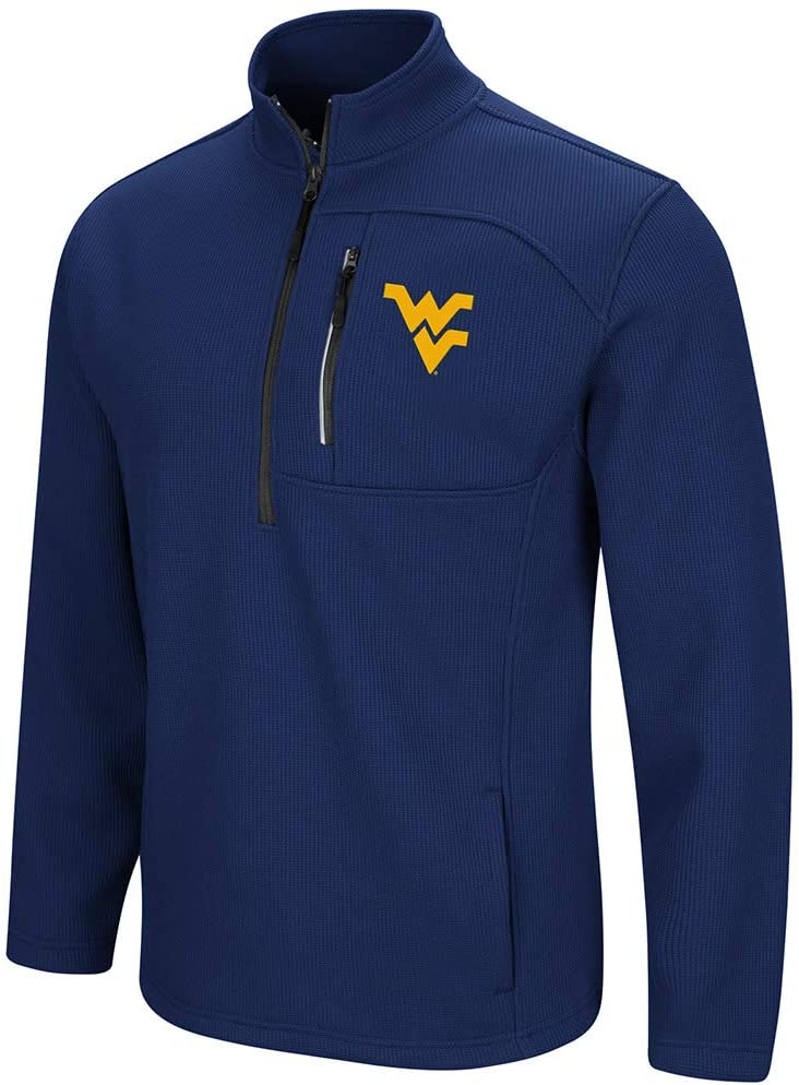 Colosseum West Virginia Mountaineers Townie 1/2 Zip Pullover Jacket