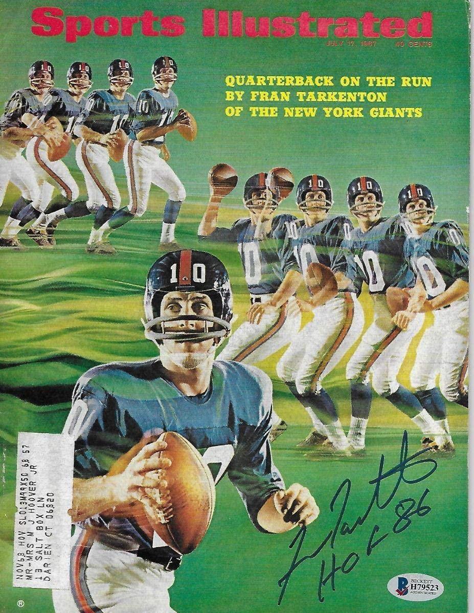 Fran Tarkenton Autographed New York Giants Sports Illustrated 7/17/67 W/HOF 86 Beckett Authenticated