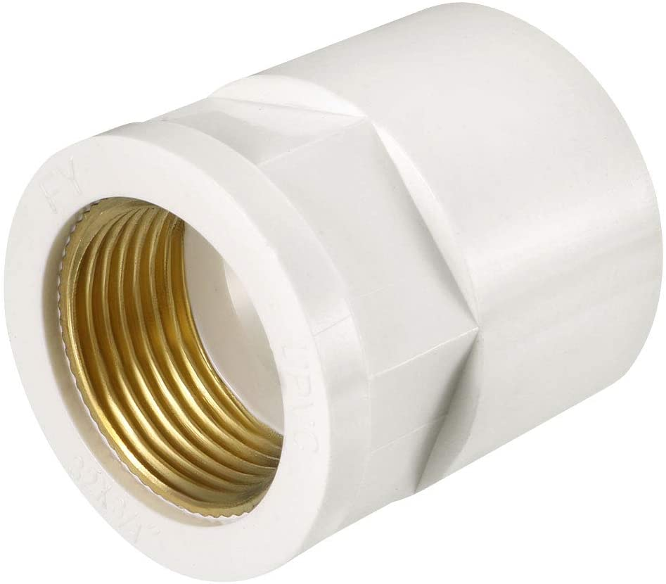 uxcell 32mm Slip x 3/4 G Female Brass Thread PVC Pipe Fitting Adapter