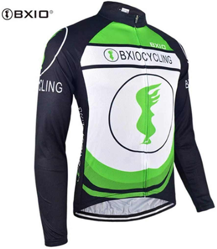 Men's Cycling Jersey Bike Jersey Bicycle Shirts Winter Breathability Long Sleeve Clothing C218