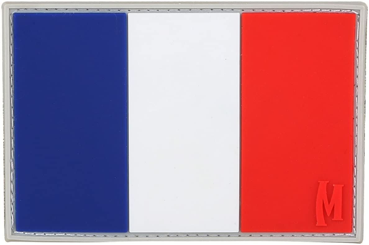 Maxpedition Gear France Flag, Full Color, 2 x 3-Inch