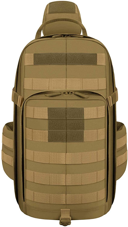 East West U.S.A RTC542 Tactical Molle Sport Military Assault Rucksacks Hiking Trekking Bag-TAN
