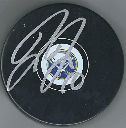 Jacob Josefson Autographed Hockey Puck - Autographed NHL Pucks