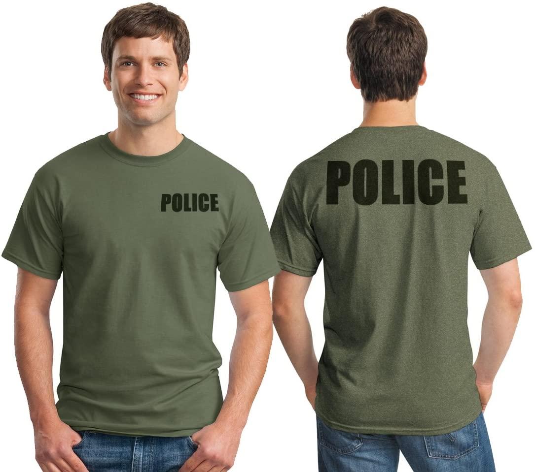 Military Green Police Raid Tshirt (Military Green, Medium)