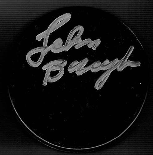 Signed Johnny Bucyk Puck - Blank Detroit Red Wings - Autographed NHL Pucks