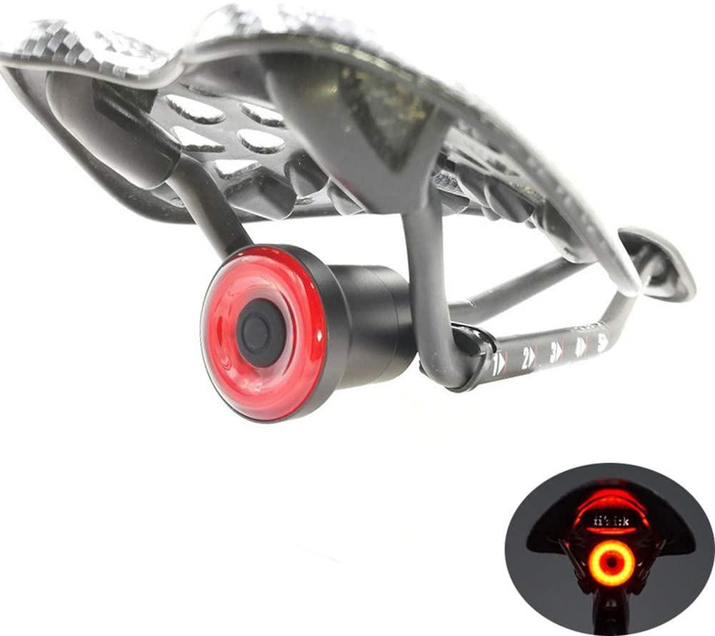 Smart Bike Tail Light Ultra Bright, MLSice Intelligent Road Bike Rear Light USB Rechargeable Brake Sensing, Auto On/Off Waterproof LED Bicycle Back Light, Cycling Safty Flashlight - Cushion Mount