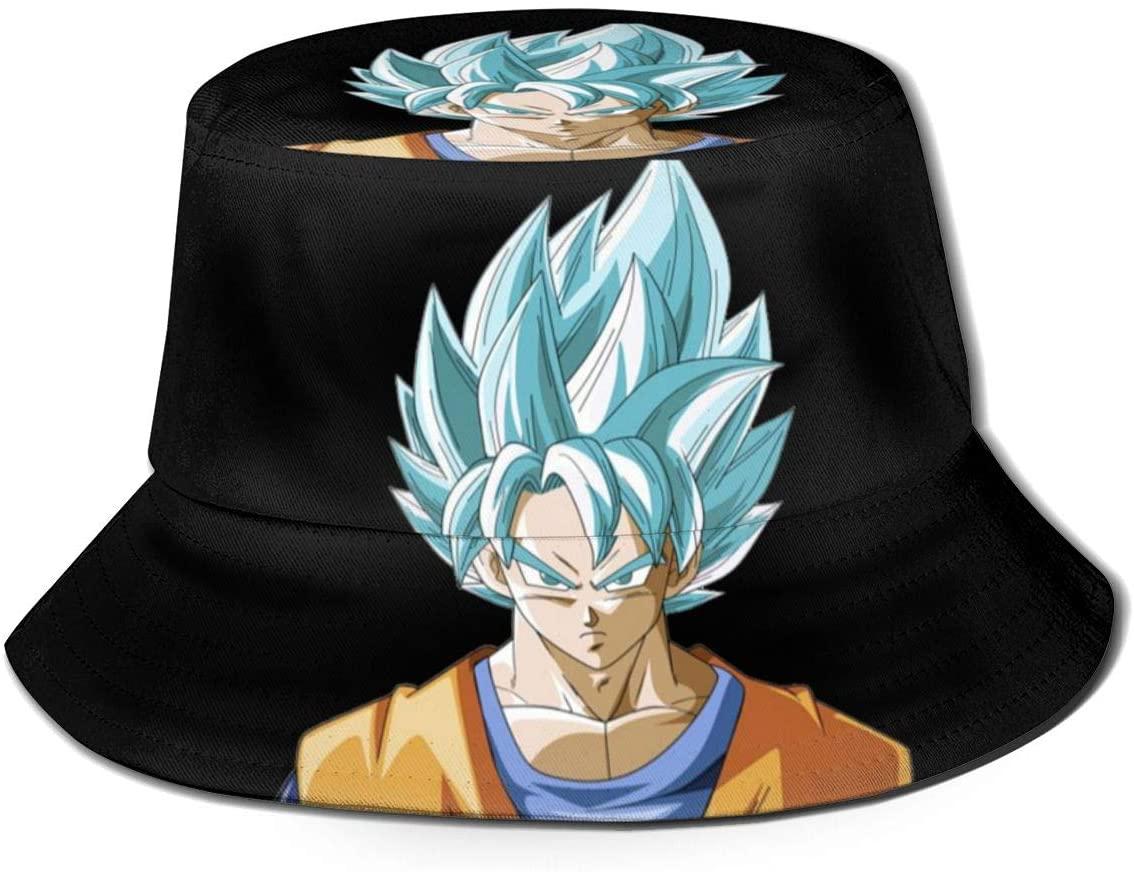 Nyf Women Men Boys Girls Son Goku-Dragon Ball-Super Saiyan Fish Hats Bucket Hat Sun Protection Fisherman Cap Winter Hat