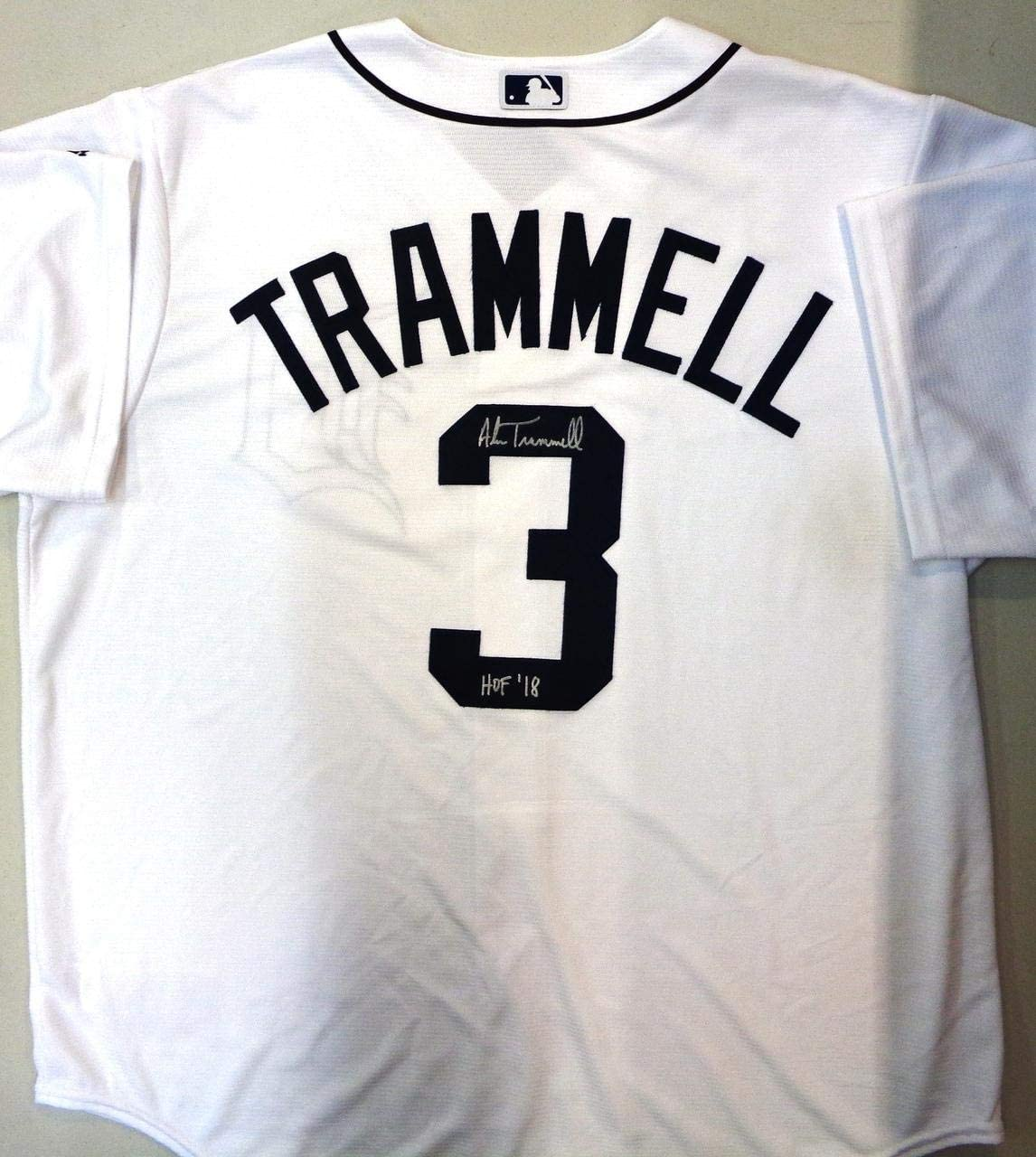 Alan Trammell Autographed Detroit Tigers Jersey Inscribed with