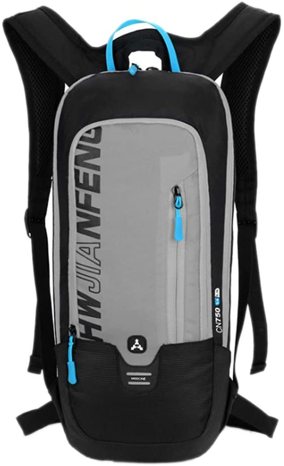 Maserfaliw Climbing & Hiking Equipment, Classical Basic Travel Backpack,Waterproof Bicycle Knapsack Water Bag Cycling Hiking Camping Hydration Backpack - Grey