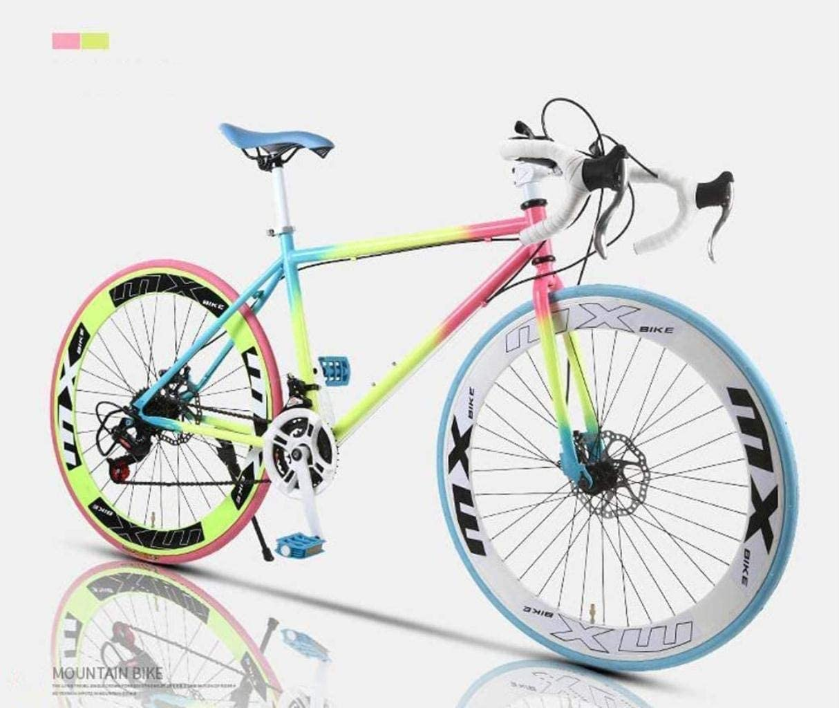 MJY Road Bicycle, 24-Speed 26 inch Bikes, Double Disc Brake, High Carbon Steel Frame, Road Bicycle Racing, Men's and Women Adult 6-24,60knife