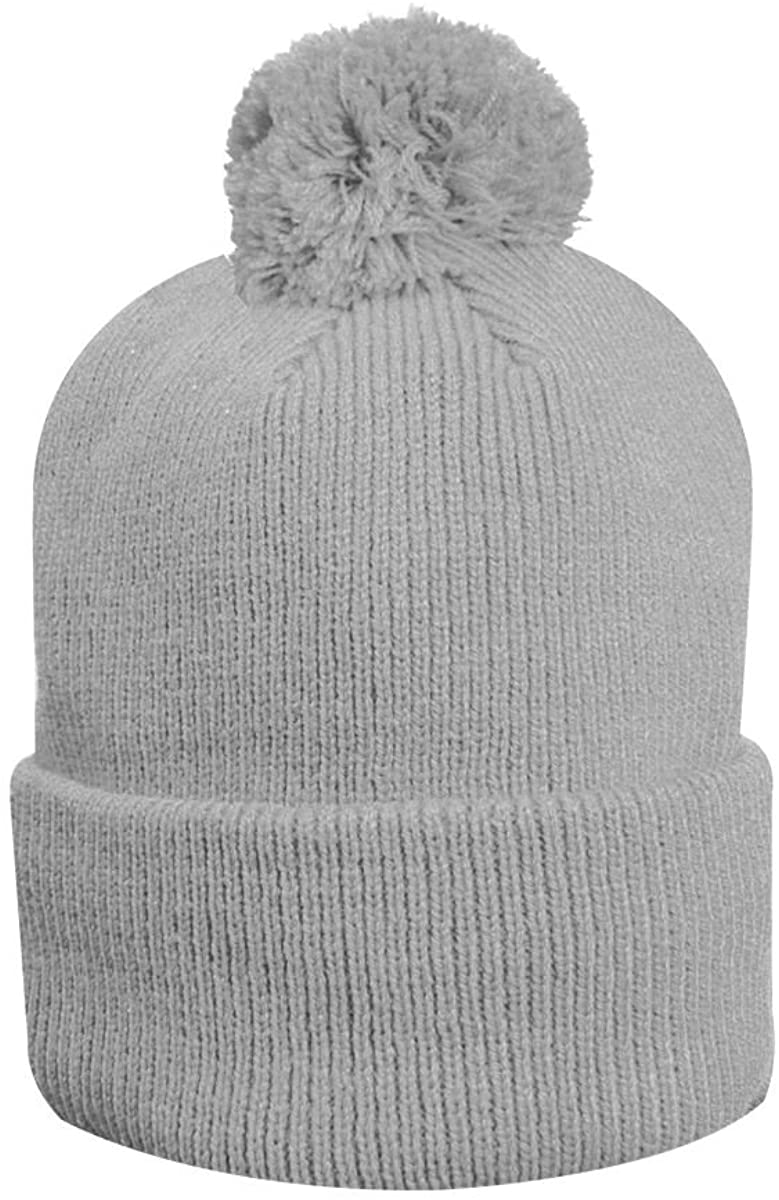 Glenmuir Unisex MH7476 Merino Thermal Lined Rib Bobble Hat