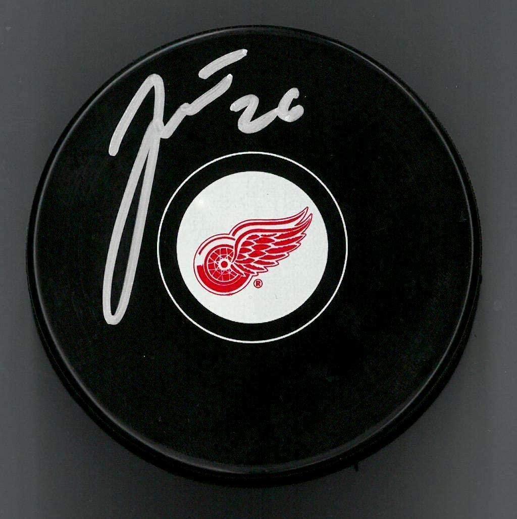 Autographed Tomas Jurco Puck - Souvenir - Autographed NHL Pucks