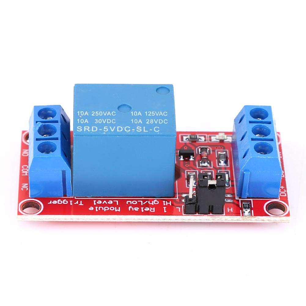 User-Friendly Interface Design Relay Module,1 Channel Relay Module Optocoupler Isolation Support Low Level Trigger PLC Control Board,Four Voltage to Choose(DC3V)