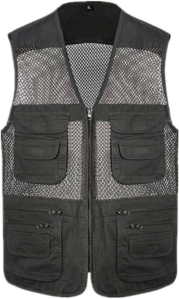 Bove Strap Fishing Vest Adjustable for Men and Women Fishing Vest Mesh Breathable for Camping Hunting Photography Vest Pack with Pockets Multi-Pocket Vest